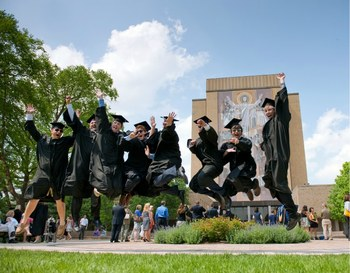 Commencement 2011 Jumping Grads